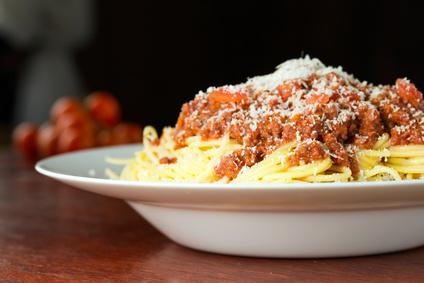 Špagety smletým masem