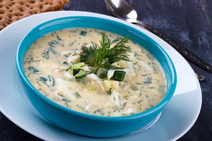 Koprová polévka s vejcem