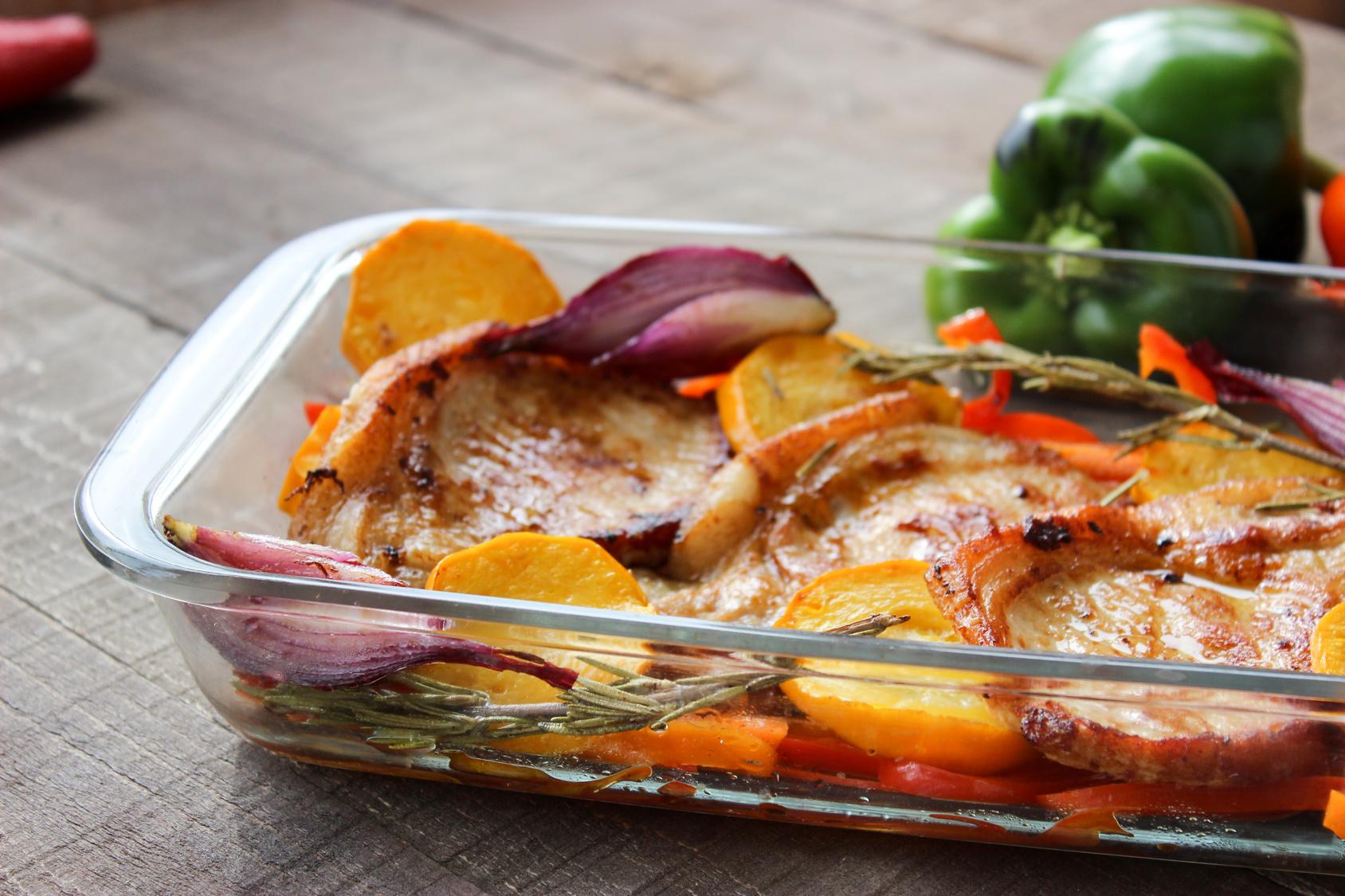 Vepřové maso na zelenině