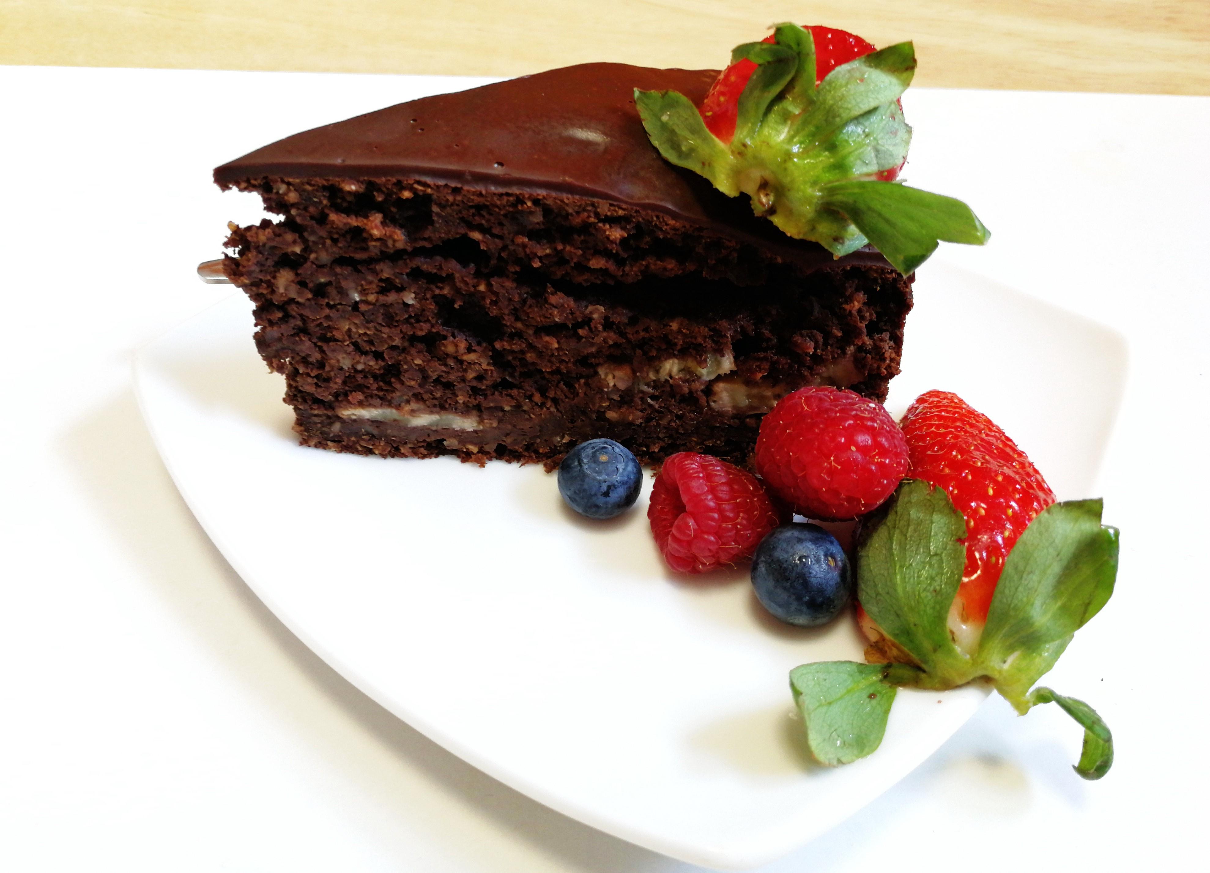 Kefírový čokoládový dort