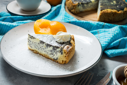 Bezlepkový makový cheesecake