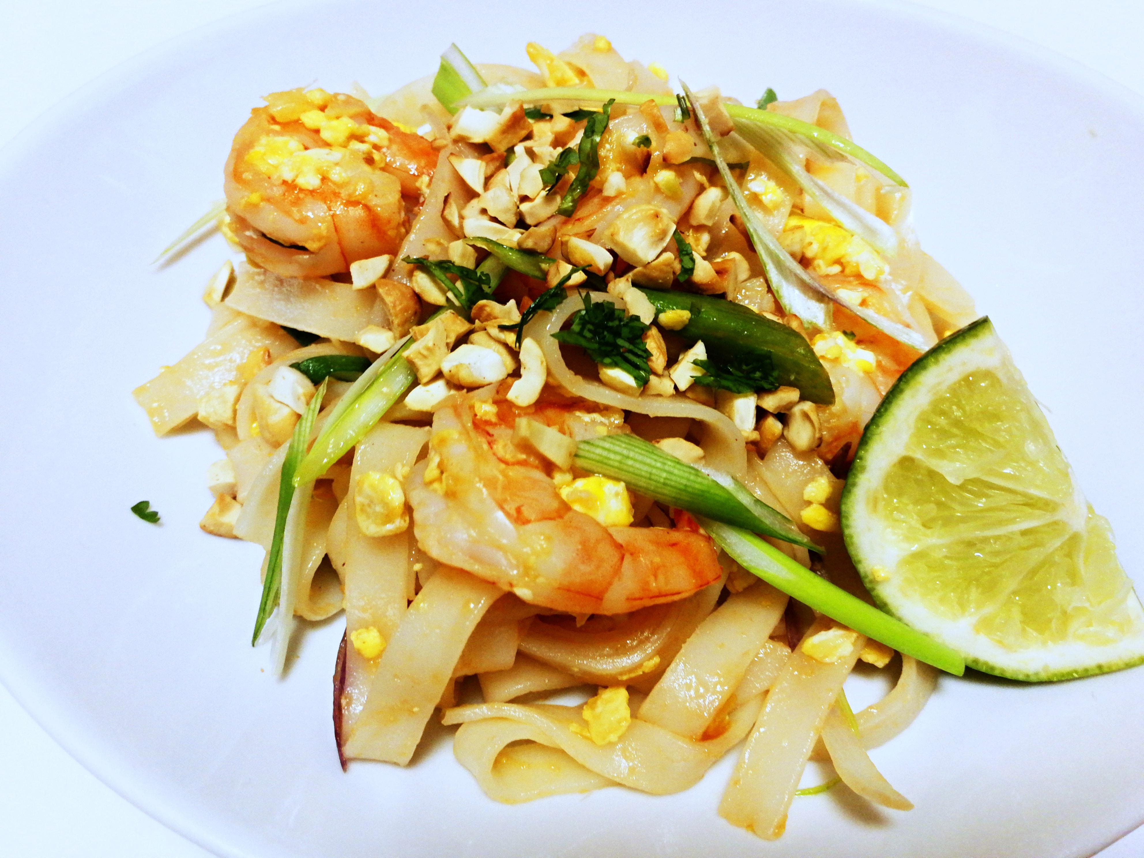 Pad thai s krevetami