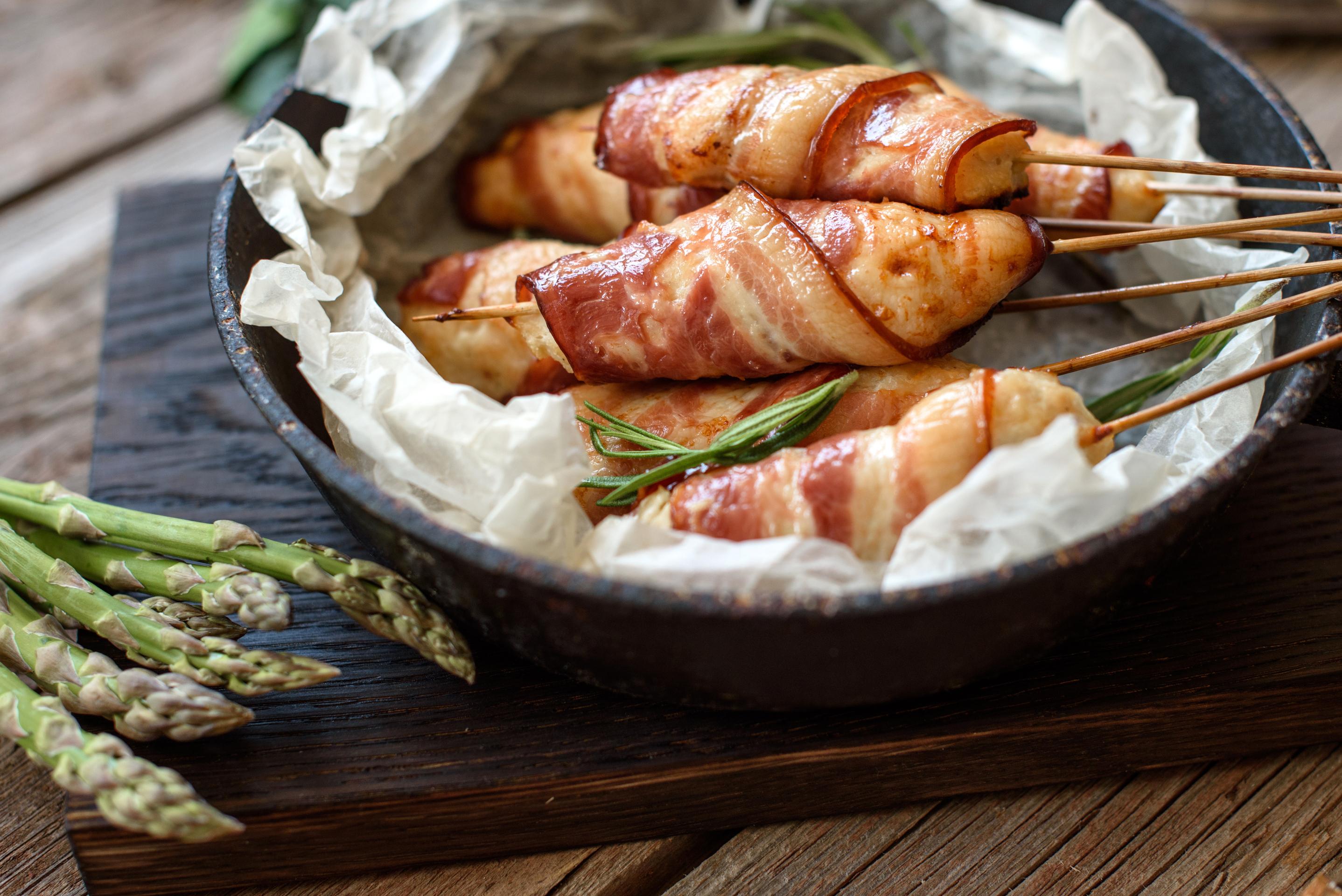 Kuřecí špízy ve slanině