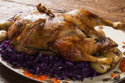 Pečená kachna se zelím