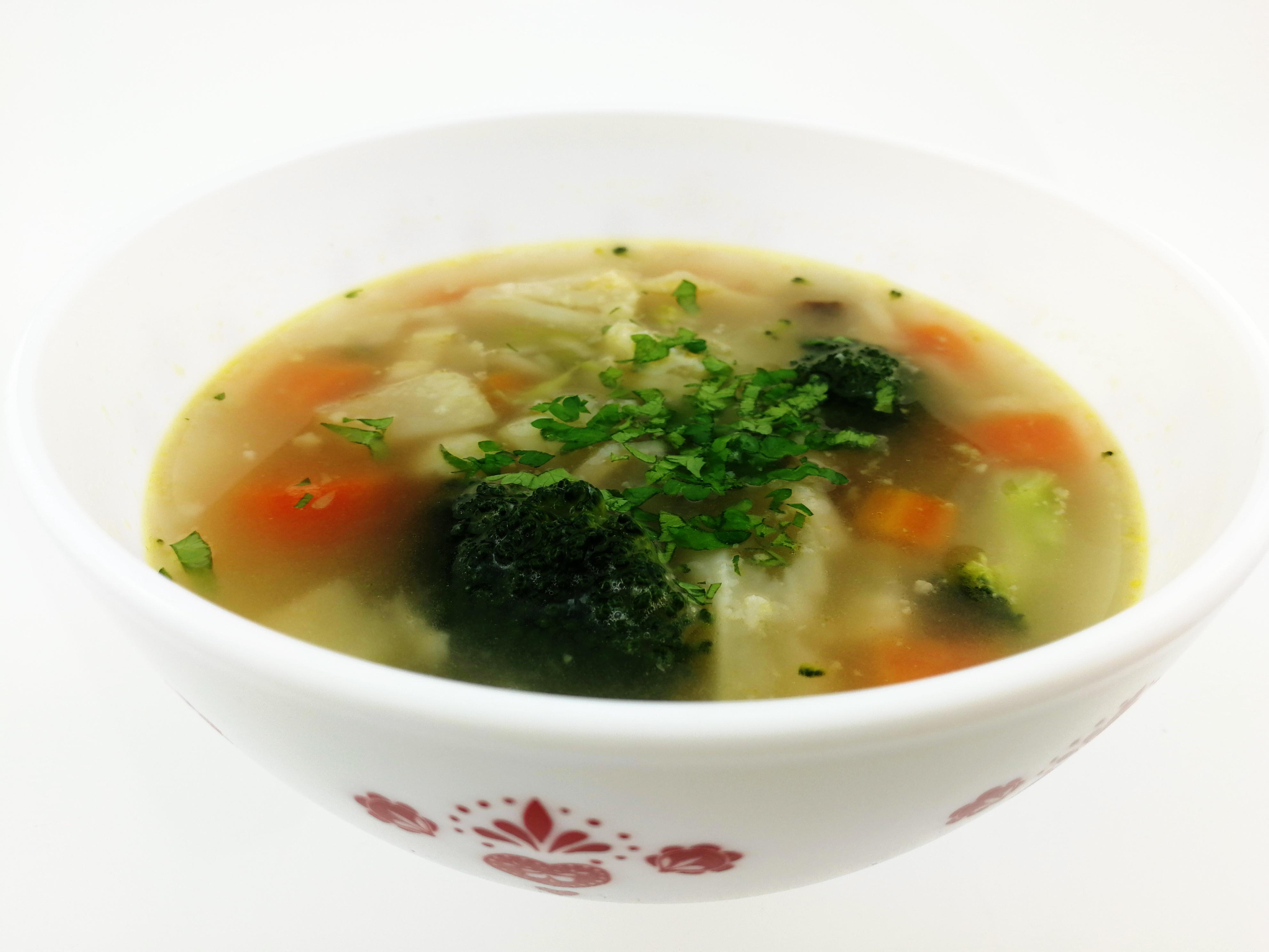 Zeleninová polévka v parním hrnci