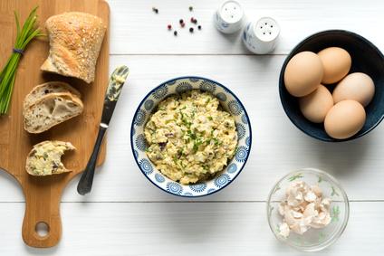 Vajíčková pomazánka s tvarohem