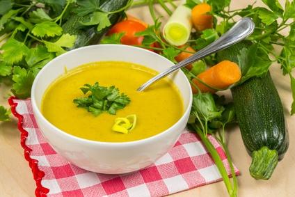 Cuketová polévka s mrkví