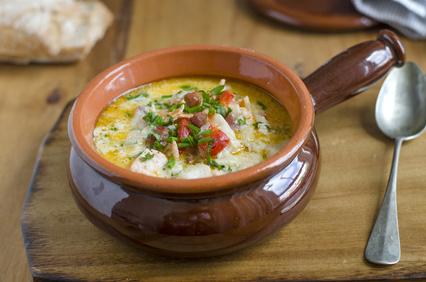 Rybí polévka z kapra