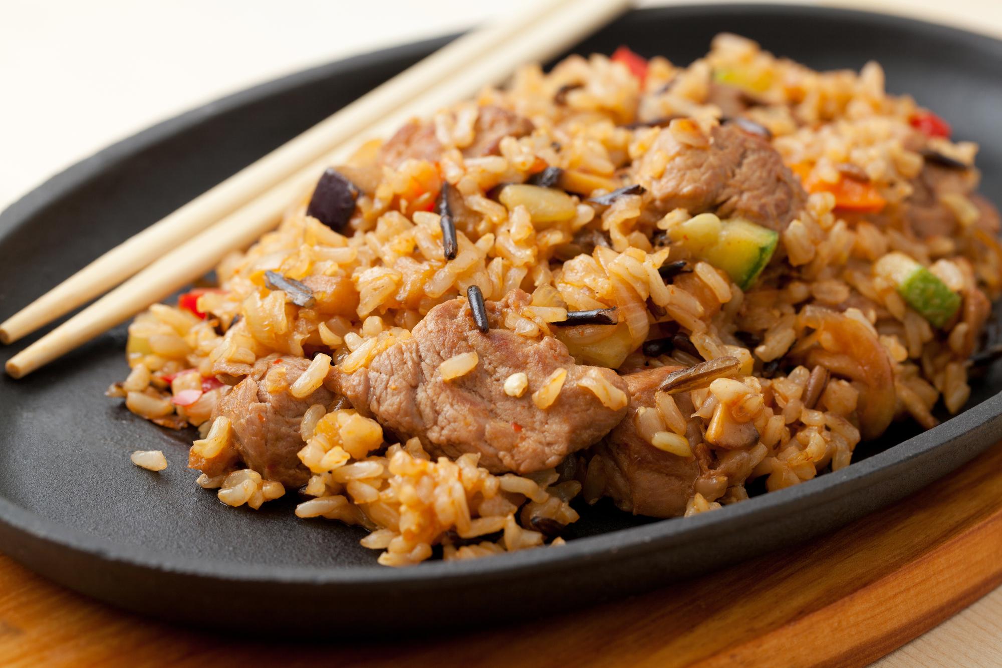 Smažená rýže s vepřovým masem