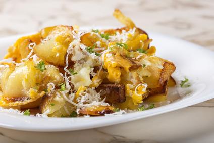 Smažené brambory s vejcem