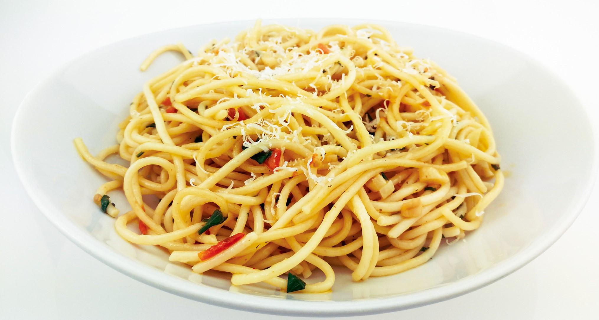 Špagety aglio olio