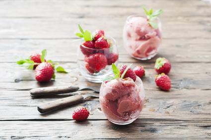 Mražený jogurt jahodový