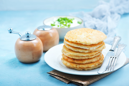 Bramborové placky z vařených brambor