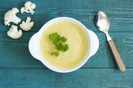 Květáková polévka pro děti