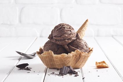 Domácí čokoládová zmrzlina