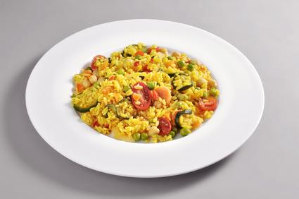 Vegetariánská zeleninová paella