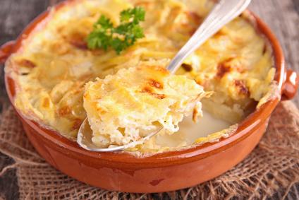 Smetanové brambory s česnekem