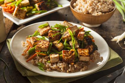 Uzené tofu se zeleninou