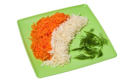 Kořenová zelenina v soli