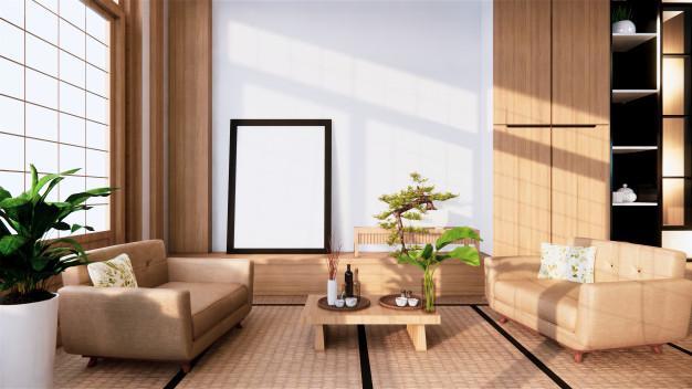 Japandi styl upřednostňuje čisté linie. Vhodné je v interiéru použít třeba i bonsaje jako dekoraci.
