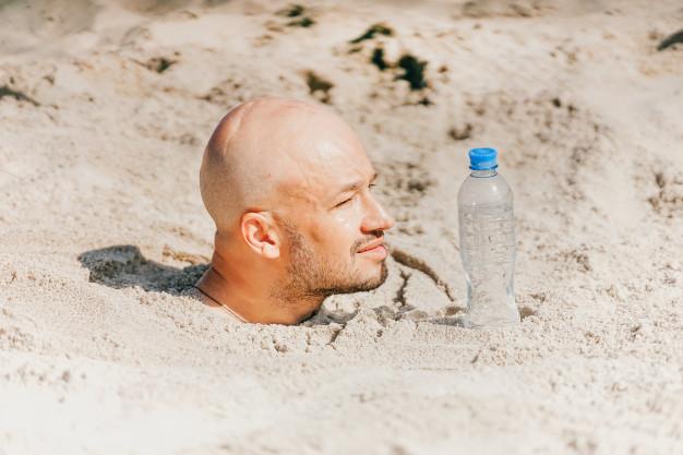 Netradiční koupel v písku