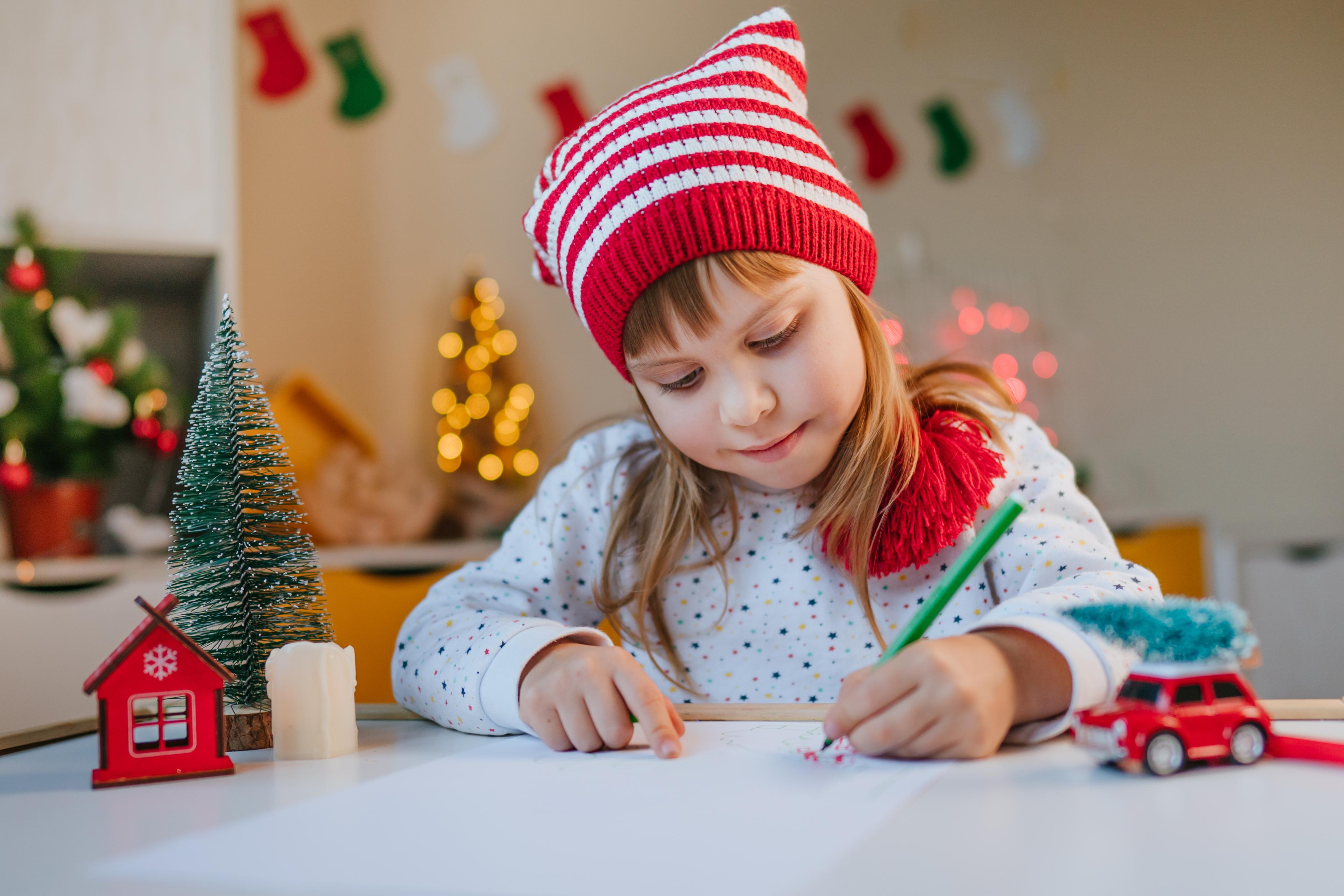 Dopis Ježíškovi mohou děti pojmout i jako kresbu.