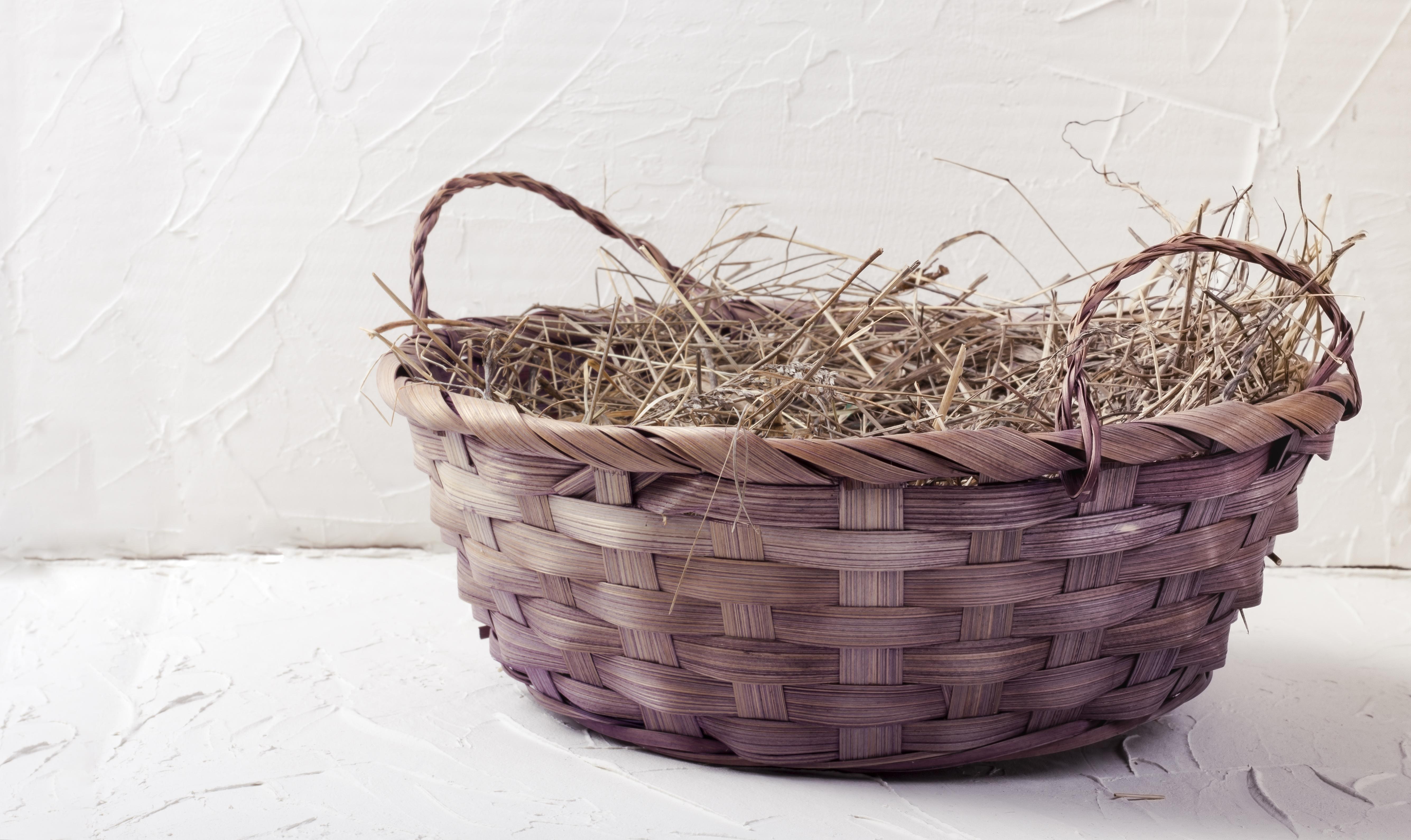 Velikonoční dekorace ze slámy a sena mají kouzlo. Přírodní materiál seženete nejen na zahradě, ale třeba i při procházce.