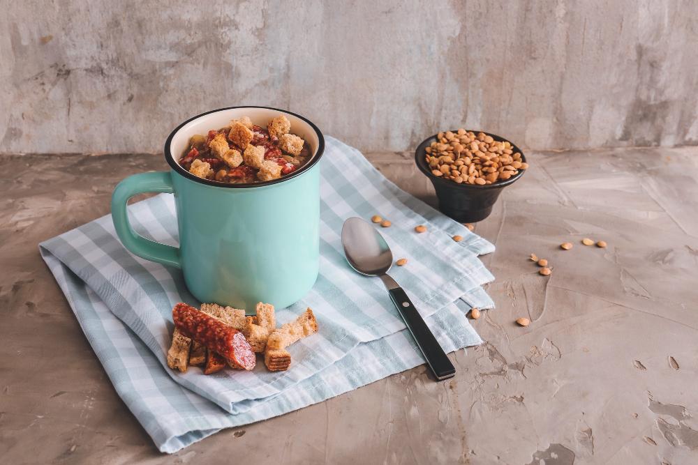 Domácí krutony chutnají v polévce skvěle!