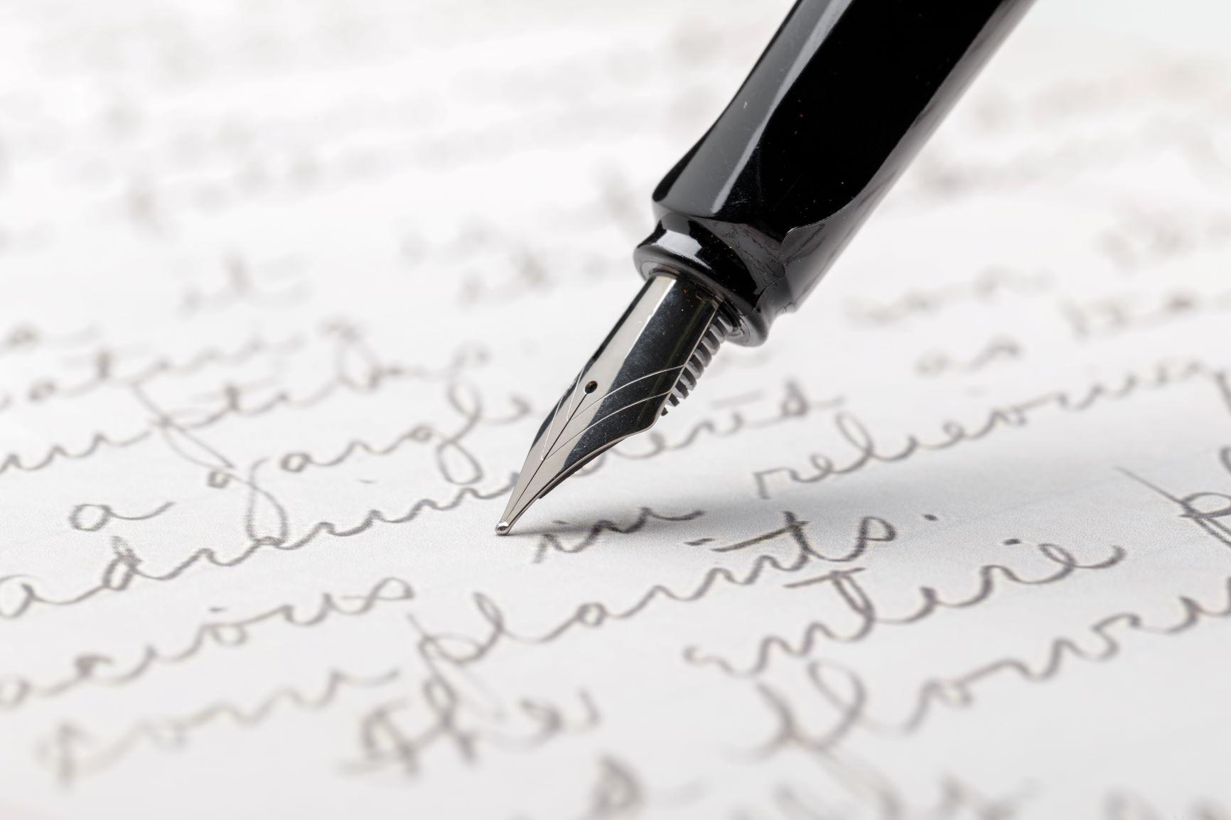 Psací písmo je důležité nejen u dětí, ale i v dospělosti