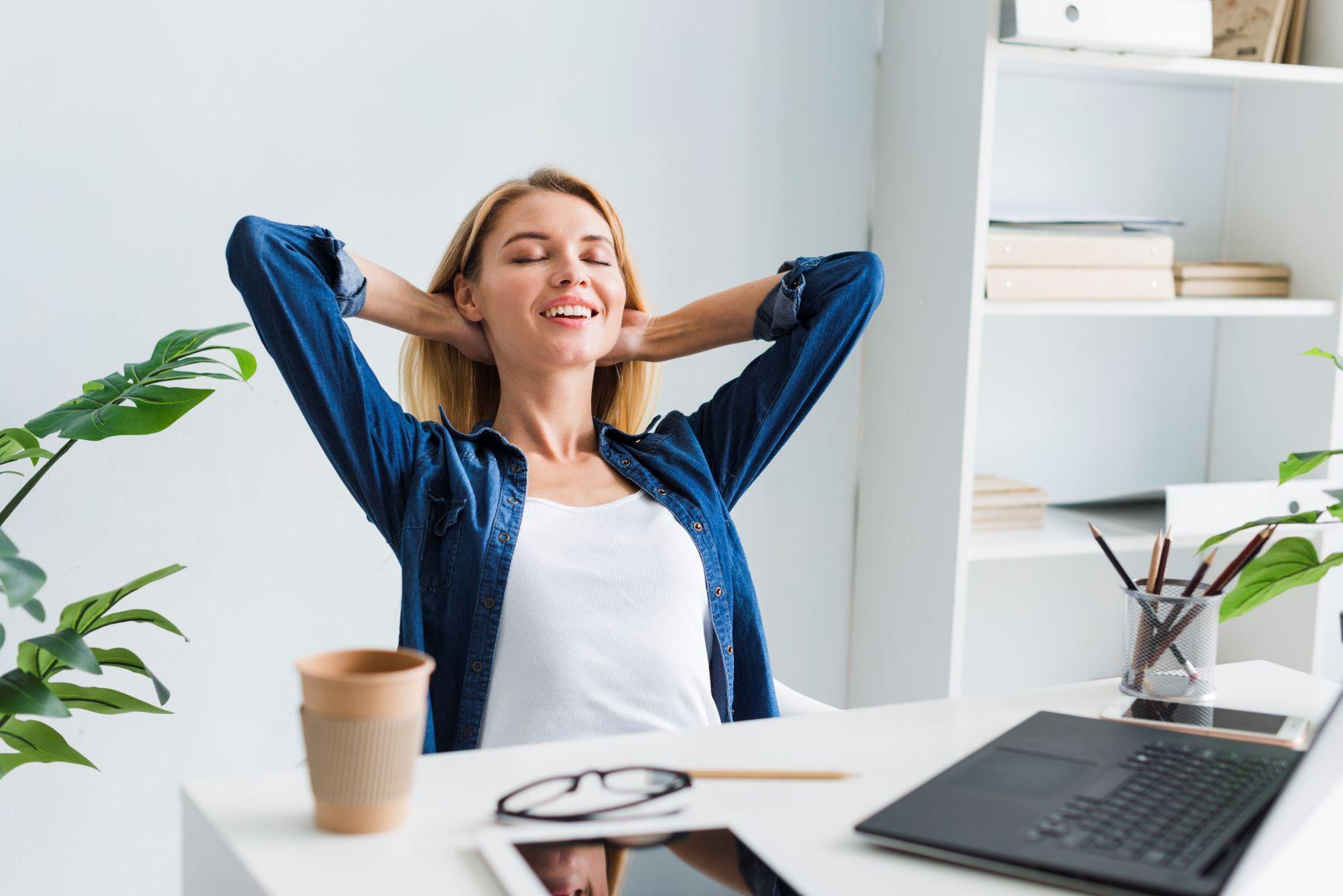 Relaxace se dá provádět i o přestávce v práci